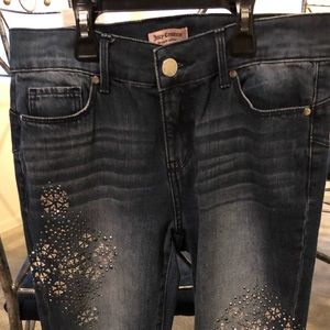 Juicy Couture bedazzled skinny jeans